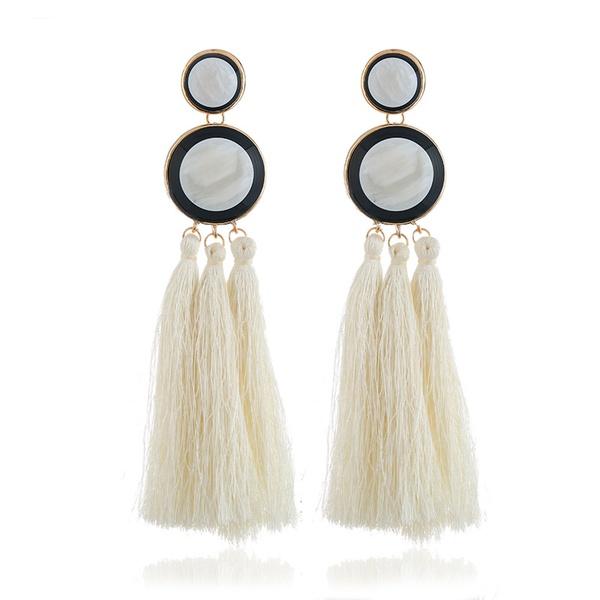 Alloy Fashion Tassel earring  (white) NHVA4997-white