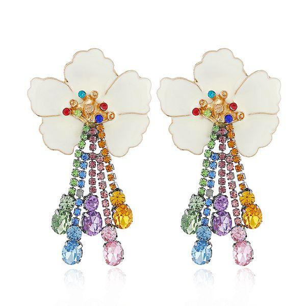 Alloy Fashion Flowers earring  (white) NHVA5001-white