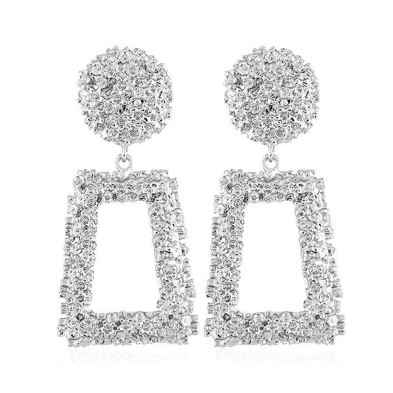 Alloy Vintage Geometric earring  (white) NHVA5002-white