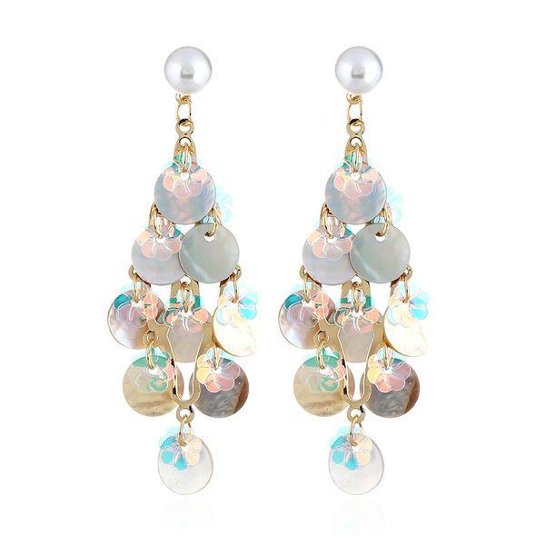 Alloy Fashion Geometric earring  (white) NHVA5009-white