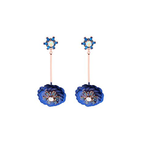 Alloy Fashion Flowers earring  (Blue-1) NHQD5349-Blue-1's discount tags