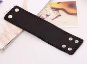 Leather Fashion Geometric bracelet  black NHPK2005black