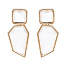 Plastic Simple Geometric earring  red NHJJ4884red