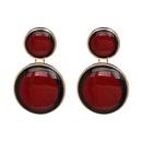 Plastic Fashion Geometric earring  red NHJJ4888red