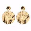 Plastic Fashion Flowers earring  Brown NHBQ1393Brown
