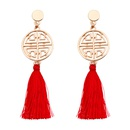 Alloy Fashion Tassel earring  red NHNMD4505red