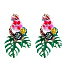 Alloy Fashion Flowers earring  red NHNMD4508red