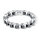 TitaniumStainless Steel Fashion Geometric bracelet  Steel color NHOP2689Steelcolor