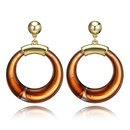 Alloy Fashion  earring  Sku6156brown NHGY1927Sku6156brown