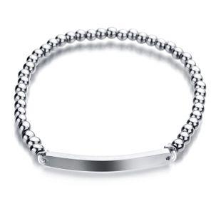 Titanium&Stainless Steel Korea Geometric bracelet  (No words) NHHF0030-No-words's discount tags
