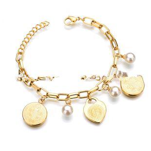 Titanium&Stainless Steel Korea Geometric bracelet  (Alloy) NHHF0031-Alloy's discount tags