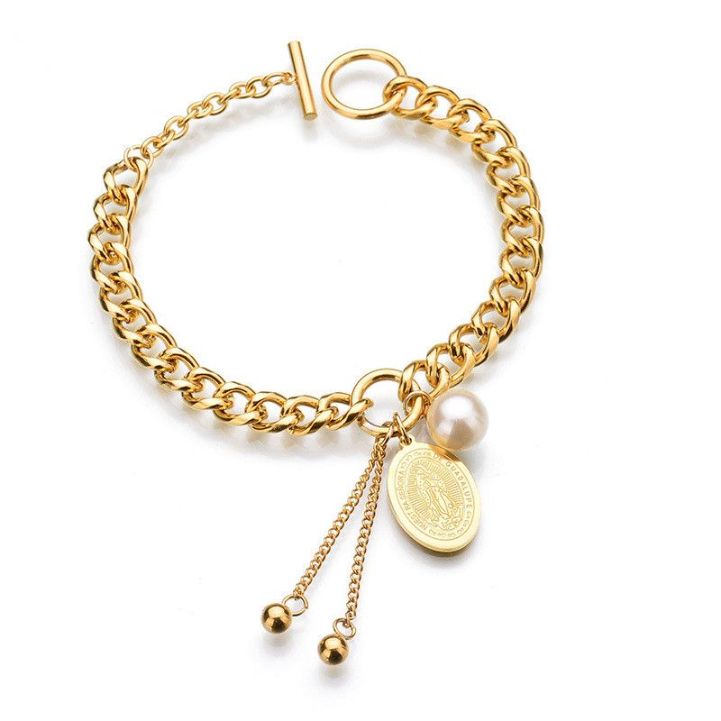 TitaniumStainless Steel Fashion Geometric bracelet  Alloy NHHF0034Alloy
