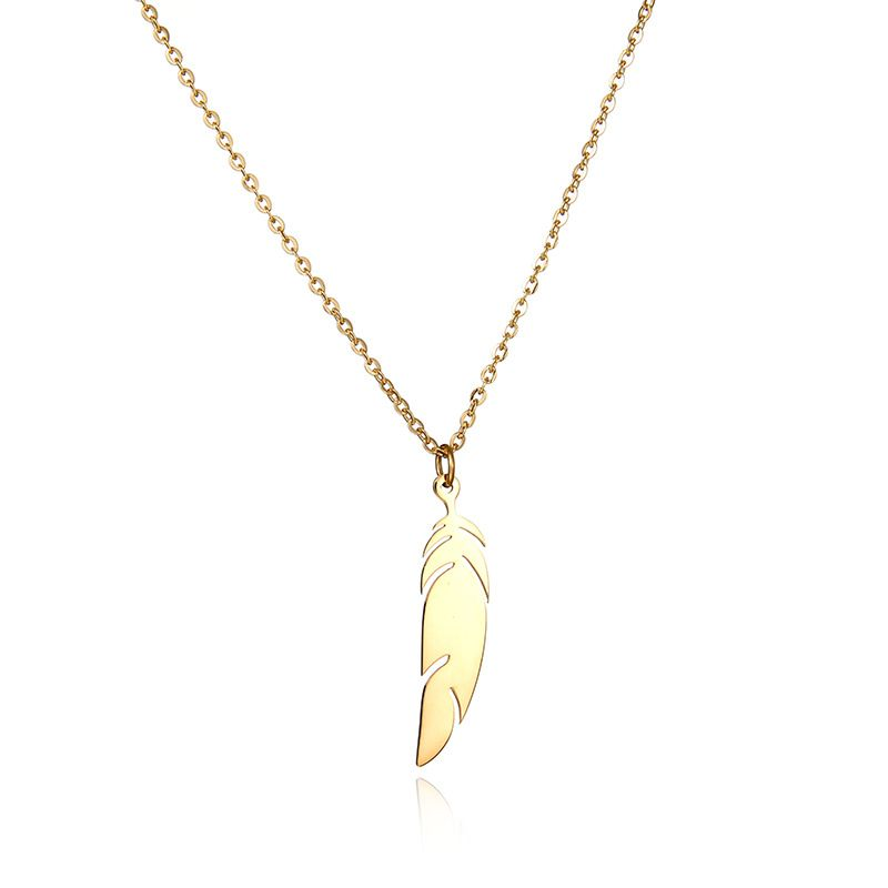 Titanium&Stainless Steel Korea Geometric necklace  (Steel color) NHHF0058-Steel-color
