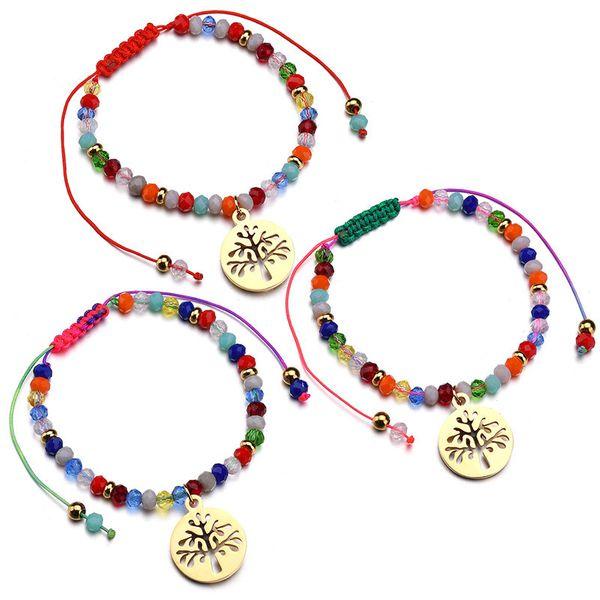 Titanium&Stainless Steel Korea Geometric bracelet  (Alloy pendant red rope) NHHF0135-Alloy-pendant-red-rope