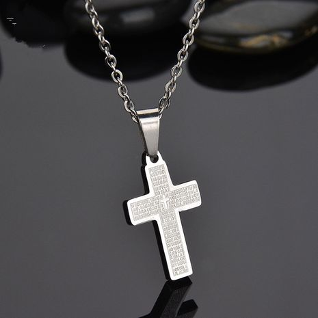 Titanium&Stainless Steel Korea Geometric necklace  (Steel color) NHHF0290-Steel-color's discount tags