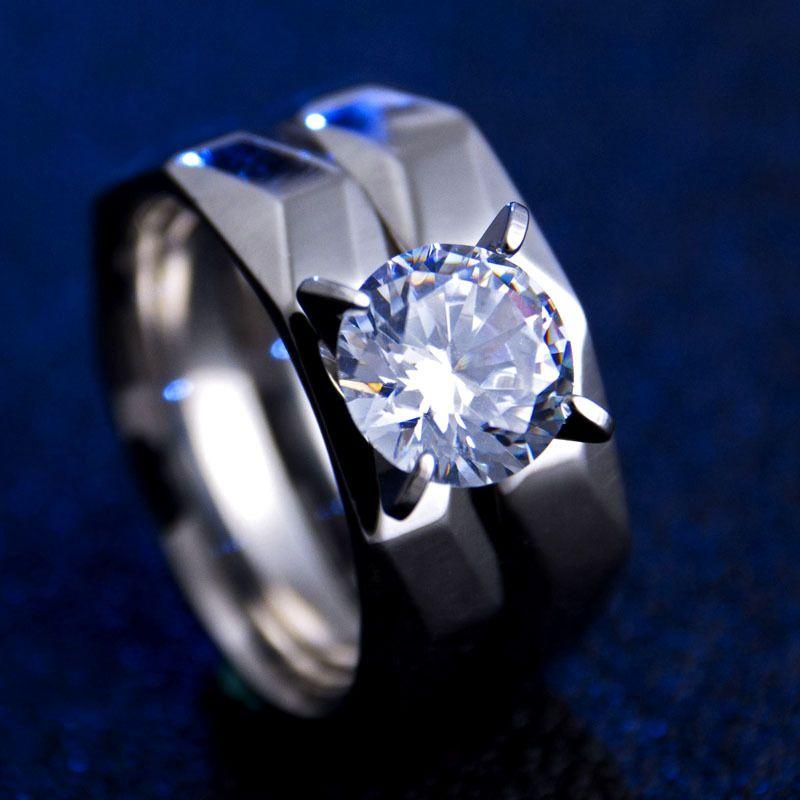 Titanium&Stainless Steel Fashion Geometric Ring  (6) NHHF0371-6