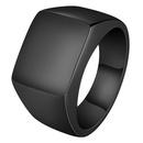 TitaniumStainless Steel Fashion Geometric Ring  Black7 NHHF0850Black7