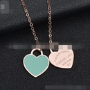 TitaniumStainless Steel Korea Geometric necklace  Steel color NHHF0018Steelcolor