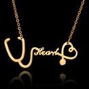 TitaniumStainless Steel Korea Sweetheart necklace  Rose alloy NHHF0055Rosealloy