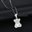 TitaniumStainless Steel Simple Animal necklace  Butterfly  Alloy NHHF0064ButterflyAlloy