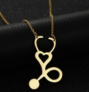 TitaniumStainless Steel Simple Geometric necklace  Rose alloy NHHF0086Rosealloy