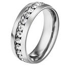 TitaniumStainless Steel Fashion Geometric Ring  Black5 NHHF0119Black5