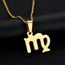 TitaniumStainless Steel Korea Geometric necklace  Virgo  Alloy NHHF0350VirgoAlloy