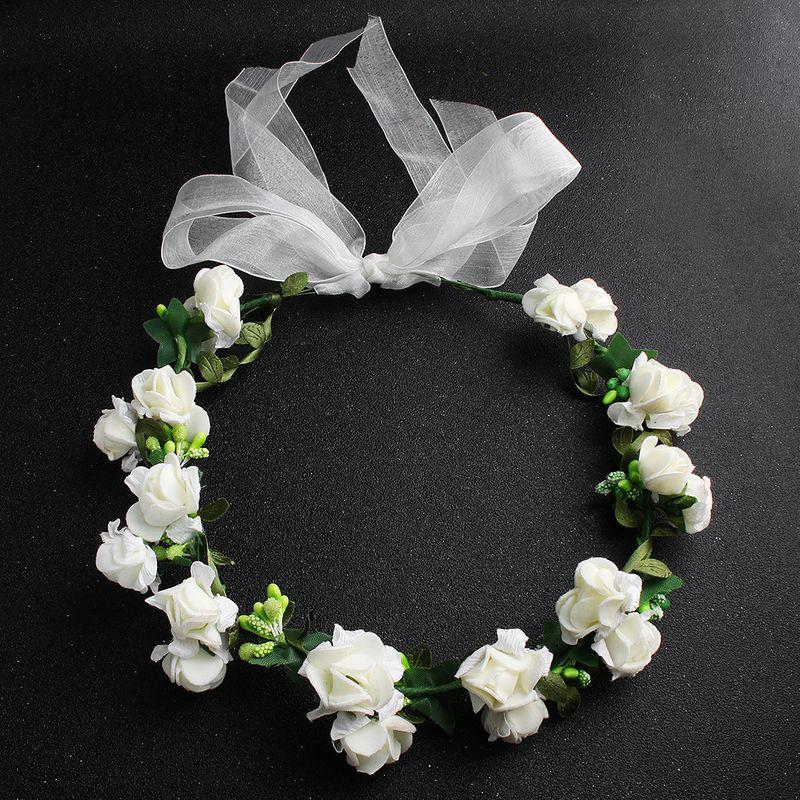 Cloth Fashion Flowers Hair accessories  (white) NHHS0378-white