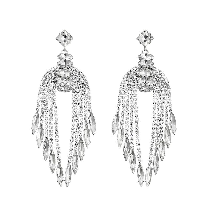 Imitated crystalCZ Fashion Geometric earring  Alloy NHHS0390Alloy