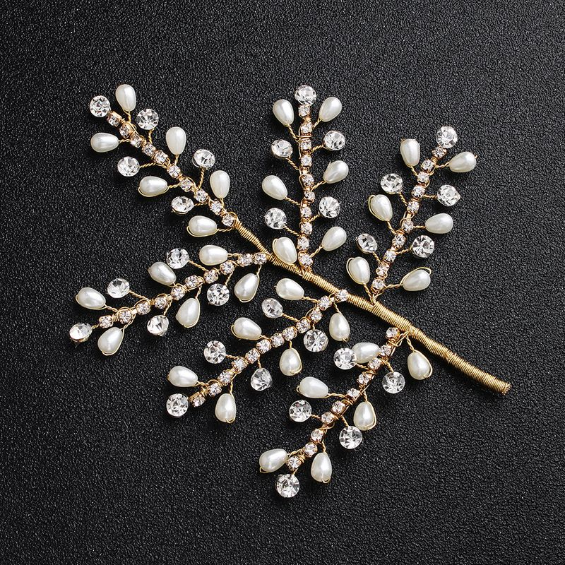 Beads Fashion Geometric Hair accessories  (Alloy) NHHS0414-Alloy