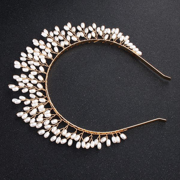Beads Fashion Geometric Hair accessories  (Alloy) NHHS0417-Alloy