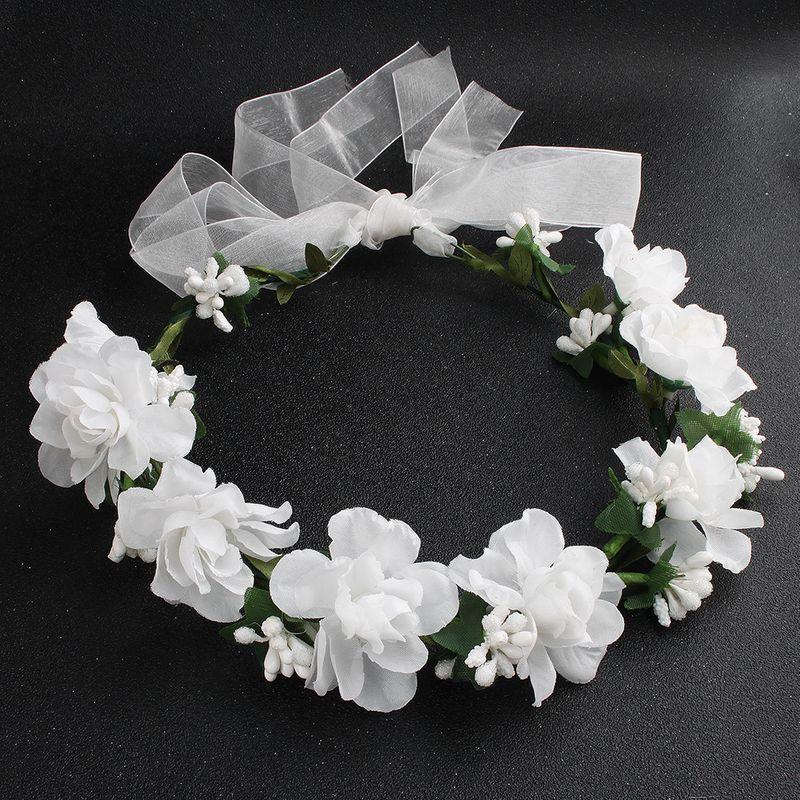 Cloth Simple Flowers Hair accessories  (white) NHHS0422-white