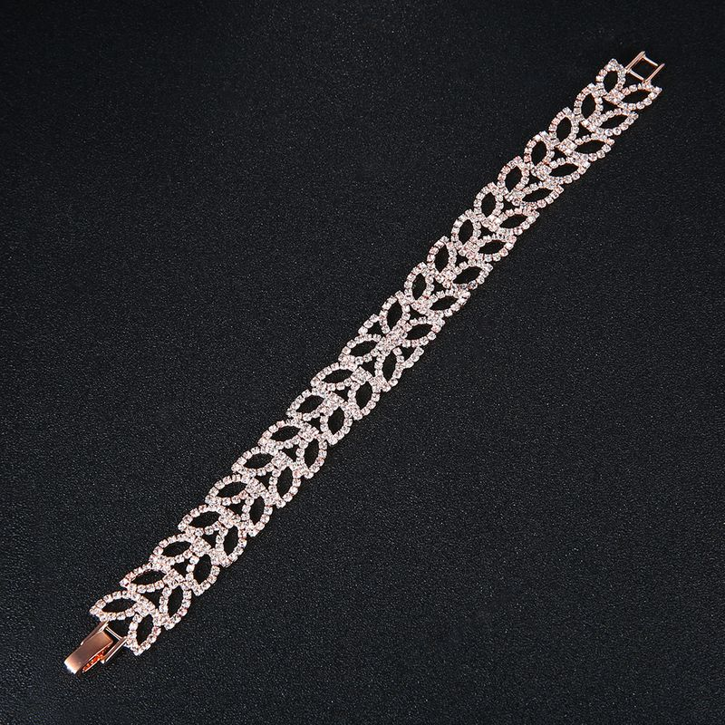 Alloy Fashion Geometric bracelet  (Rose alloy) NHHS0424-Rose-alloy