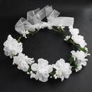 Cloth Simple Flowers Hair accessories  white NHHS0422white