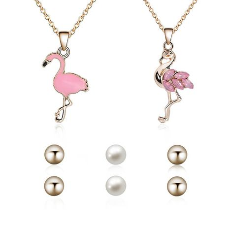 Alloy Fashion  The necklace  (66181001 pink) NHXS1650-66181001-pink's discount tags