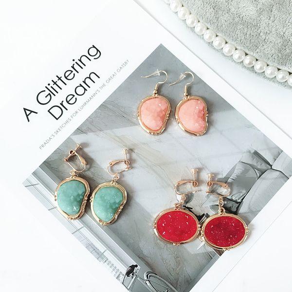 Alloy Fashion  earrings  (Red earrings) NHOM0551-Red-earrings