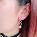 Alloy Fashion Flowers earrings  Round beads NHOM0509Roundbeads