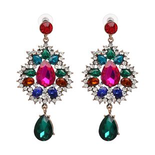 Imitated crystal&CZ Fashion Geometric earring  (color) NHJJ4798-color's discount tags