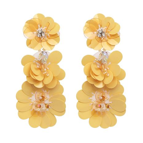 Plastic Fashion Flowers earring  (yellow) NHJJ4797-yellow's discount tags
