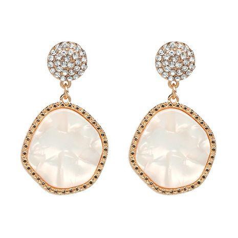 Plastic Fashion Geometric earring  (white) NHJJ4803-white's discount tags