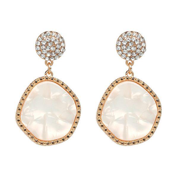 Plastic Fashion Geometric earring  (white) NHJJ4803-white