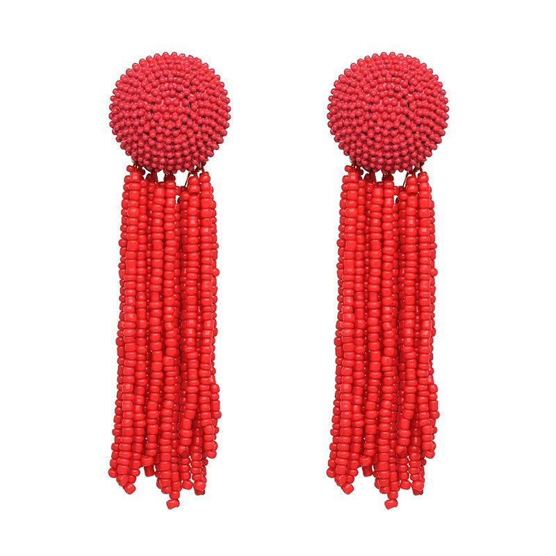 Alloy Fashion Geometric earring  (red) NHJJ4808-red