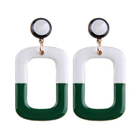 Alloy Fashion Geometric earring  (A green + white) NHJQ10283-A-green-white's discount tags
