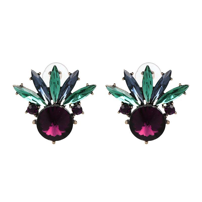 Imitated crystal&CZ Fashion Geometric earring  (50895) NHJJ4818-50895