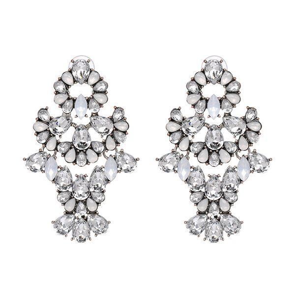Plastic Fashion Geometric earring  (white) NHJJ4819-white