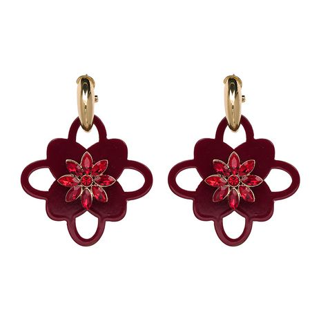 Plastic Fashion Flowers earring  (red) NHJJ4821-red's discount tags