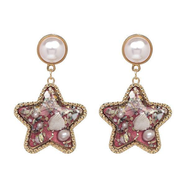 Plastic Fashion Geometric earring  (red) NHJJ4825-red