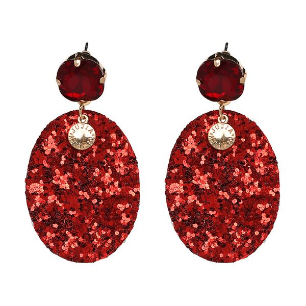 Alloy Fashion Geometric earring  (red) NHJJ4830-red