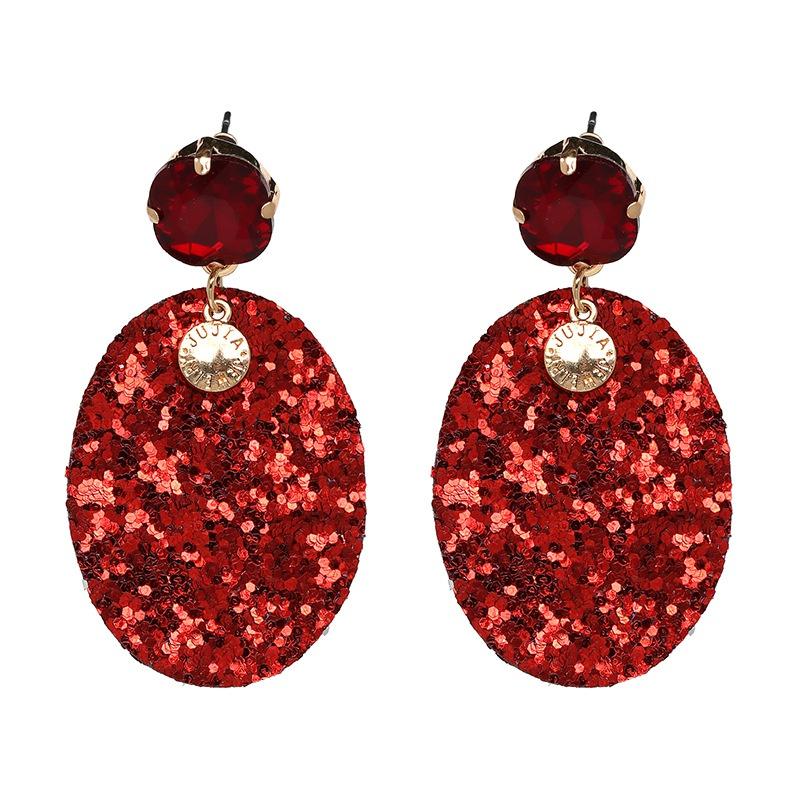 Alloy Fashion Geometric earring  (red) NHJJ4830-red