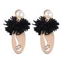 Boucle d39oreille gomtrique Fashion en alliage noir NHJQ10269noir